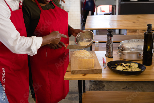 African chefs cooking together