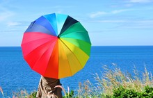 Women With Colorful Umbrellas ...