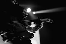 Closeup Of A Guitarist Perform...