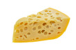 Maasdam cheese - yellow triangle with holes