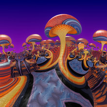 Mushroom World_Psychedelic Col...