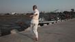 Mortal Blows Sportsman Karate Kimono Stock Video Footage