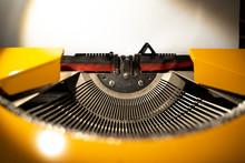 Old Yellow Typewriter