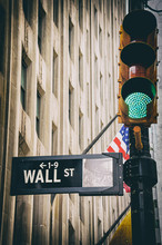 Wall Street Sign Closeup With ...