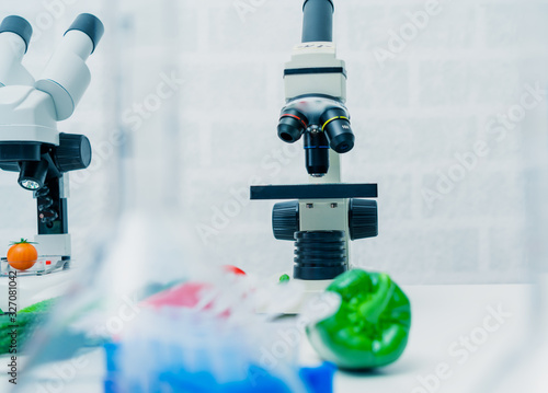 Chemical Laboratory of the Food supply Canvas Print