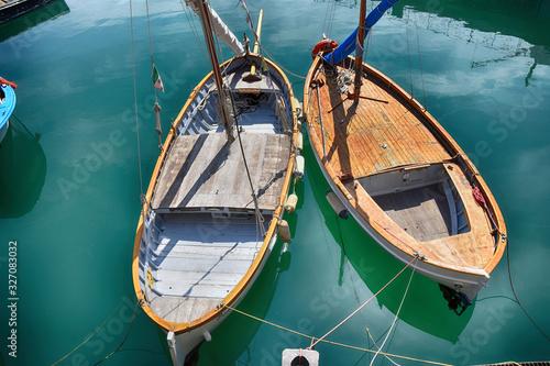 Barche al porto Wallpaper Mural