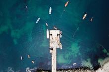 Aerial View Of Fishermen Pier ...