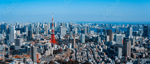 Photo 東京都市風景 Cityscape of Tokyo Japan