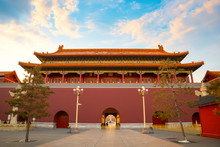 Tiananmen Gate Of The Forbidden City In Front Of Tiananmen Square In Beijing, China