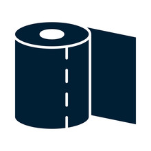 Toilet Paper Silhouette Style Icon Vector Design