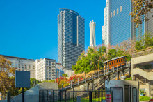 Angels Flight In Downtown LA.,...