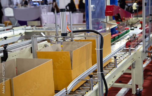 Production line of cardboard packing and sealing machine Wallpaper Mural