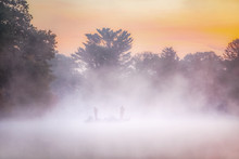 Soft Misty Image Of Fishermen ...
