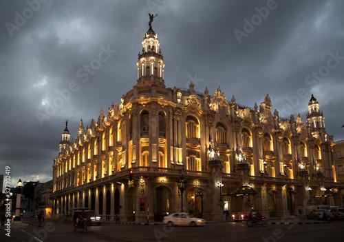 The Gran Teatro de La Habana Alicia Alonso in Havana in Cuba Canvas Print