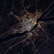 Map Quebec City. Canada