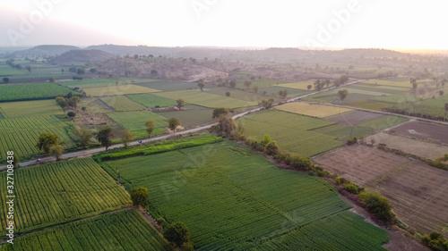 Papel de parede Ariel top view of agriculture field