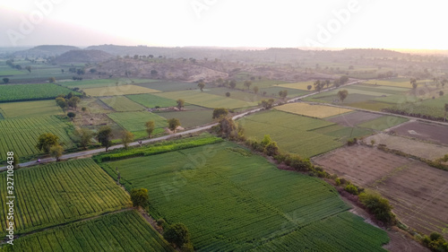 Fotografie, Obraz Ariel top view of agriculture field