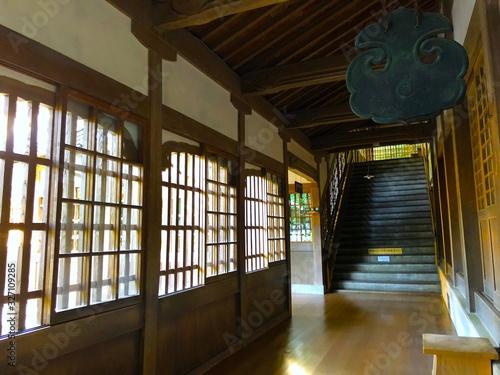 永平寺の回廊、福井 Canvas Print