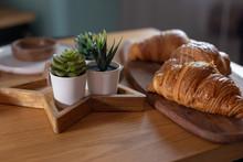 Succulents, Three Croissants O...