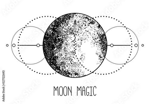 Fototapeta Triple moon pagan Wicca moon goddess symbol