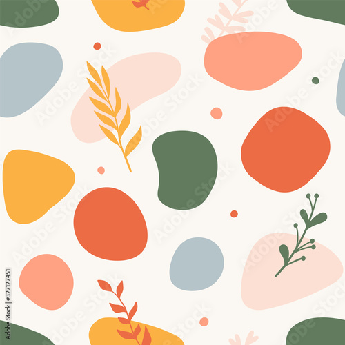 Fototapeta Trendy seamless pattern with abstract shapes