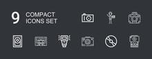 Editable 9 Compact Icons For W...