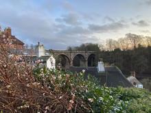 Knaresborough Railway Viaduct View With No Train