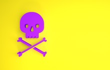 Purple Skull On Crossbones Ico...