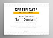 Clean Simple Certificate Of Appreciation Template Design