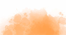 Orange Watercolor Background F...