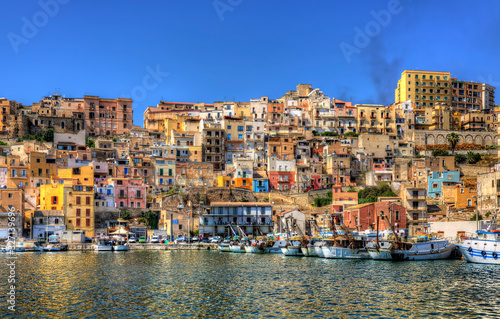 From the Harbour of Sciacca, Sicily Canvas Print