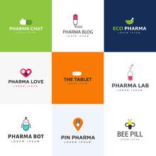 Pack Of Medicine Logo Vectors