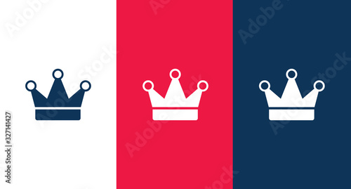 Crown icon for web and mobile Wallpaper Mural