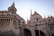 Budapest, Hungary - October 06, 2014: view to the stairs in front of Fisherman's Bastion