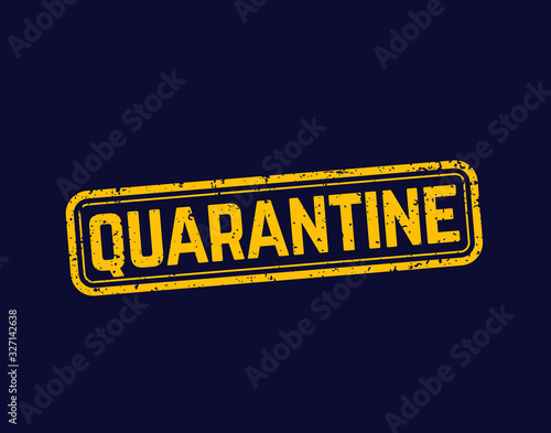 Obraz quarantine stamp, grunge vector sign - fototapety do salonu