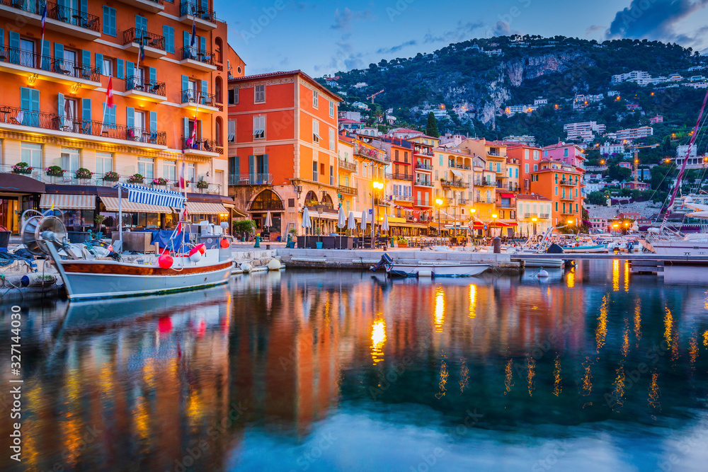 Fototapeta Villefranche sur Mer, France. Seaside town on the French Riviera