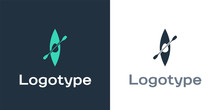 Logotype Kayak And Paddle Icon...