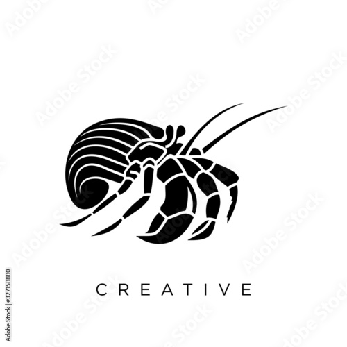 hermit crab logo design Canvas Print