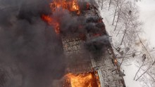 Aerial View The Burning Roof O...