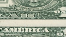 US 1 Dollar Bills Close Up Tra...