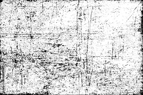 Fototapeta Black and white grunge texture. Pattern of an old worn surface. Monochrome pattern of scratches and scuffs obraz