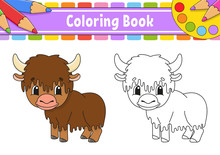 Coloring Book For Kids. Cheerf...