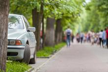 Car Parked In Pedestrian Zone ...