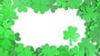 Leinwanddruck Bild - アイルランドの文化であるパトリックデーのための、クローバー、シャムロックをモチーフにした画像素材。3Dレンダリング。