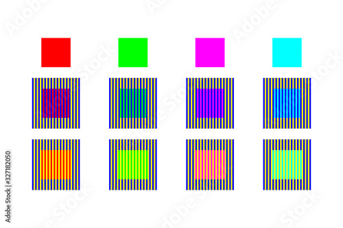 Color optical illusion by assimilation and contrast Canvas Print