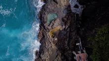 Top View Of Big Footprint In S...
