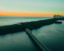 MacArthur State Park Sunrise, Florida, Drone