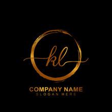 KL Luxury Vector Initial Logo,...