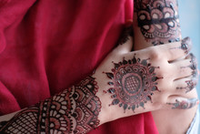 Close Up Of Hena Decorative On...
