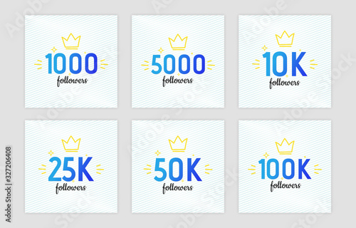 Valokuvatapetti Congratulation banners for social networks